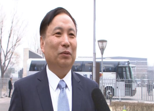 王启尧参加全国政协十三届一次会议开幕会