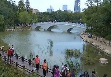 植物园全新亮相 小桥流水风景如画