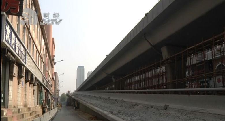 五一路解放广场桥改造工程完成四分之一