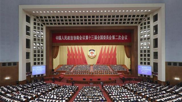 全国政协十三届二次会议胜利闭幕