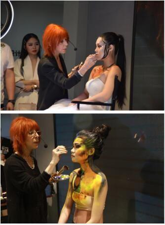 一路时尚联手世界知名化妆艺术家,进行艺术彩妆技术研讨