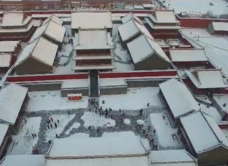 壯觀:沈陽故宮雪景航拍