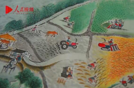 八旬老人百日画七米长卷记城市变迁
