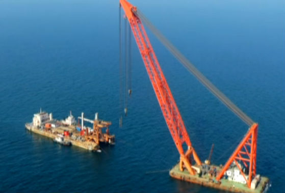中船重工庄河海域海上风电场址Ⅱ项目开工