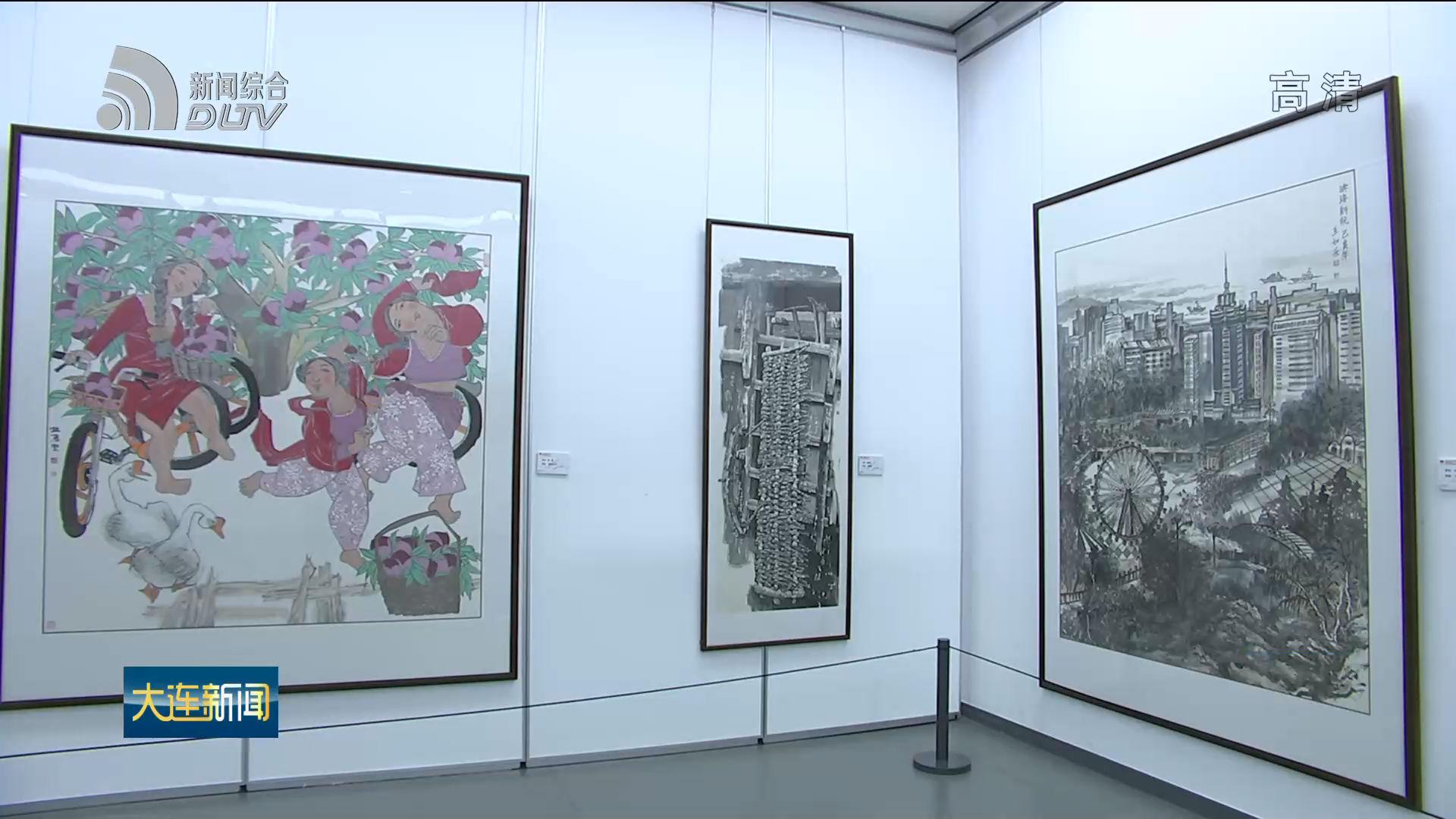 庆祝中华人民共和国成立70周年美术书法摄影作品展开幕